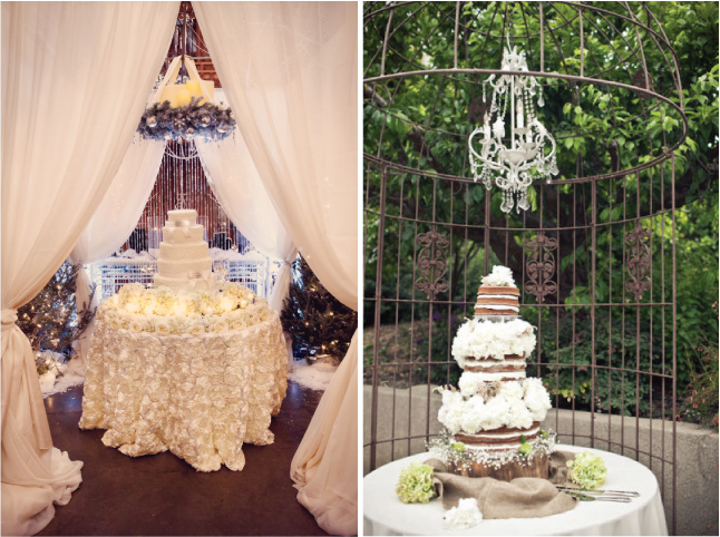 15 stunning cake table ideas belle the magazine when it come to decorate your cake table backdrops are the easiest way to go if you are having your reception and your ceremony at the same place junglespirit Gallery