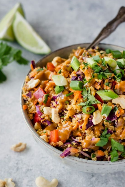 Crunchy Cashew Thai Quinoa Salad {vegan, gluten-free}