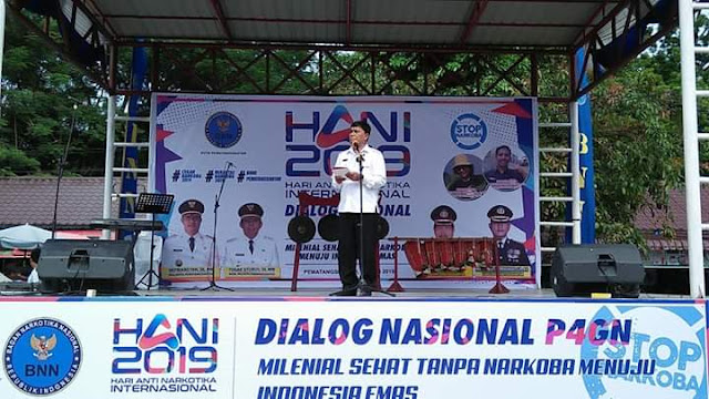 Wabup Samosir Hadiri Peringatan Hari Anti Narkotika Internasional 2019, Milenial Sehat Tanpa Narkoba