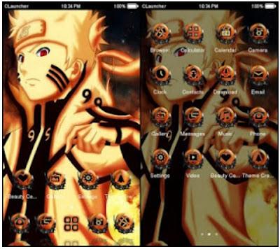 Cara Menggubah Theme Naruto Kyubi Untuk Android