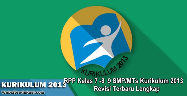 RPP SMP/MTs Kurikulum 2013 Revisi 2019 Lengkap