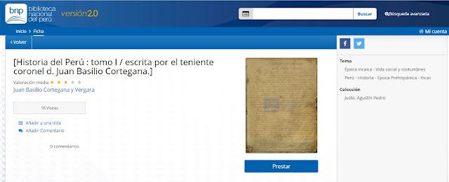 Historia del Peru biblioteca virtual BNP