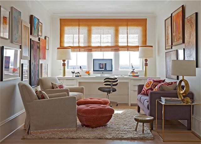 zona de trabajo en casa con sofas chicanddeco