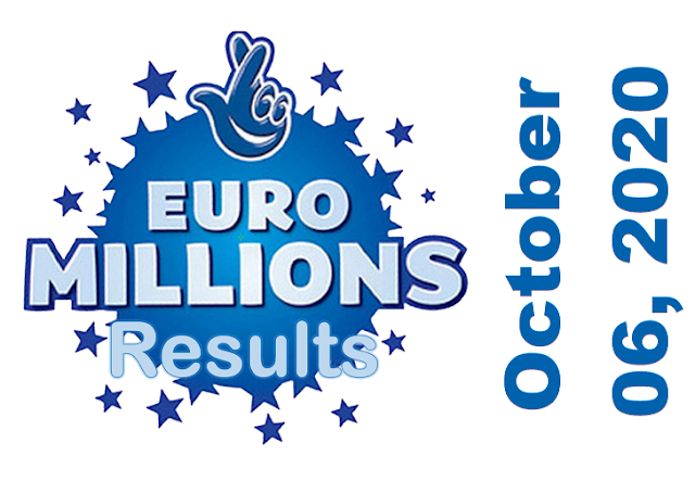 EuroMillions Results for Tuesday, October 06, 2020