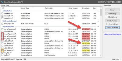 تحميل  برنامج DriverStore Explorer ازالة التعريفات القديمة لتوفير مساحة على الهارد