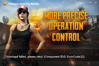 خطأ error code 31 محاكي game loop[