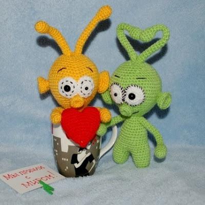 Инопланетяне амигуруми игрушки крючком