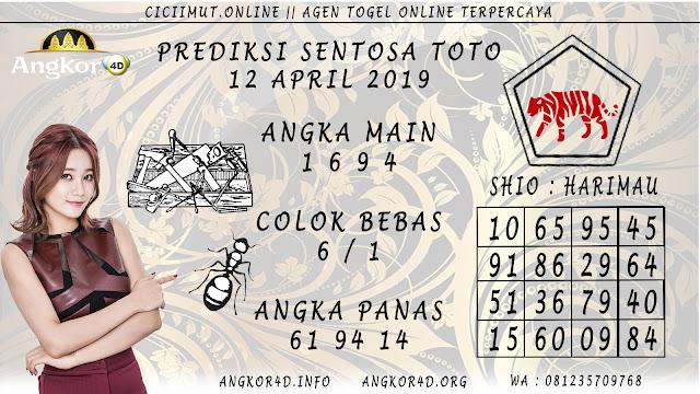 Prediksi Angka Jitu SENTOSA TOTO 12 APRIL 2019