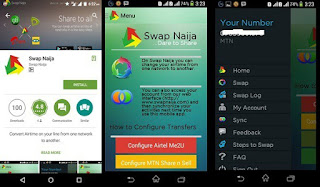 Swap Naija - for Inter-network Airtime transfers