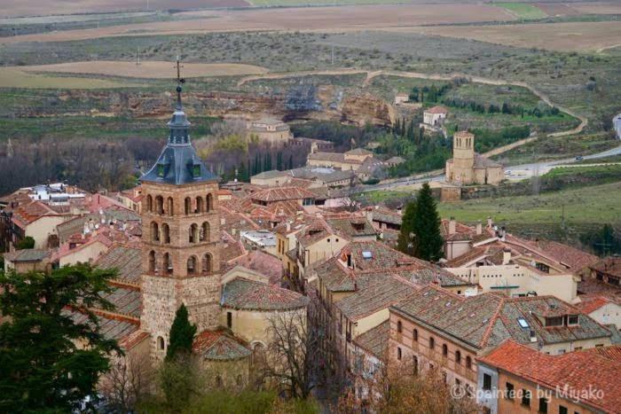 Segovia 世界遺産セゴビアのサンセステバン教会とベラクルス教会