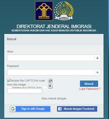 antrian paspor online lewat website