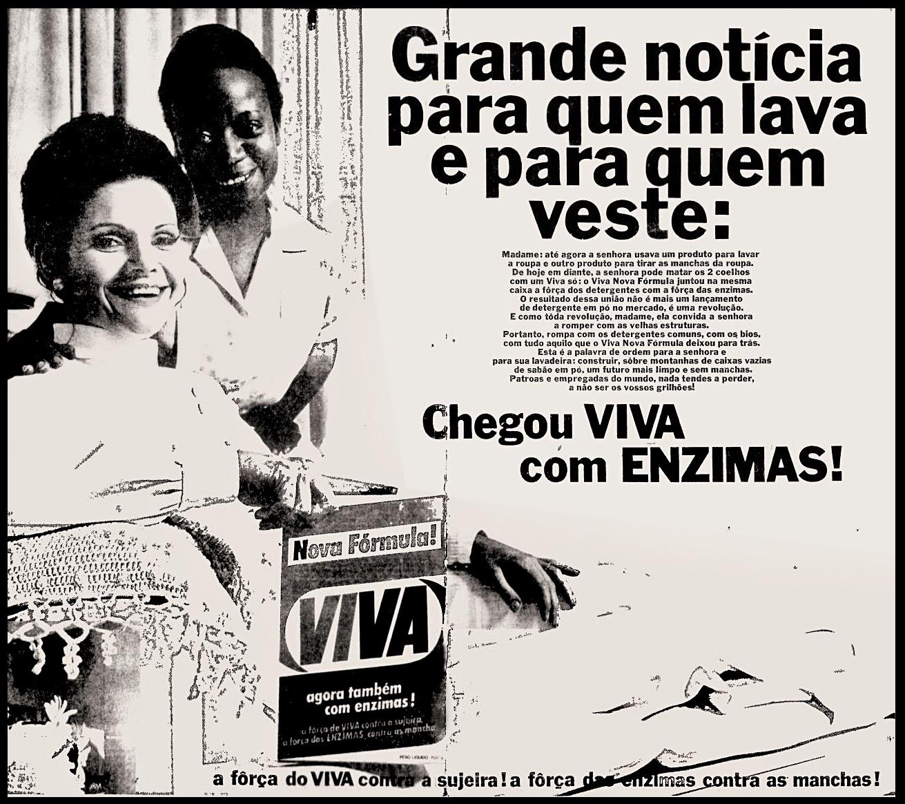 Propaganda antiga do Sabão em Pó Viva apresentada em 1970