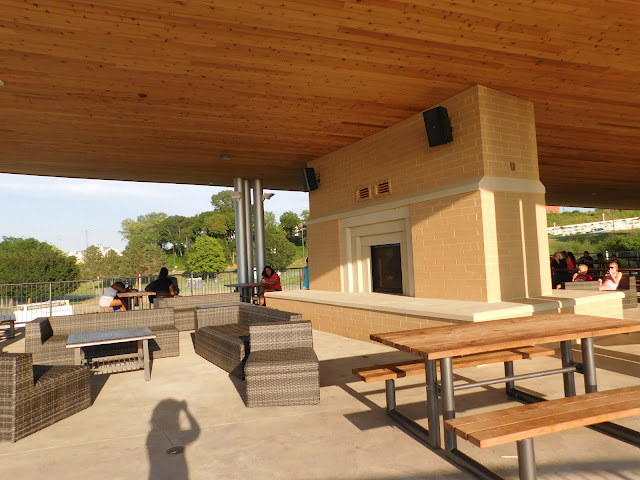 Plenty of places to sit at Metroparks Edgewater Beach House
