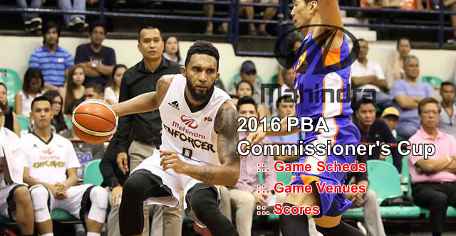 List of Mahindra Enforcers 11 Games Elimination Round 2016 PBA Commissioner's Cup