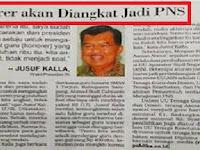 Sudah Pasti!! Presiden dan Wapres Sudah Setuju Honorer Diangkat PNS Tanpa .....