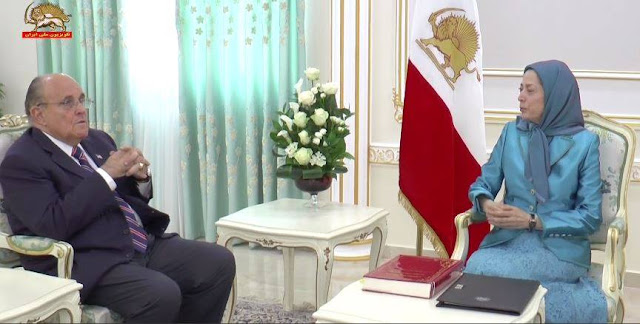 Mayor Rudy Giuliani Meets Maryam Rajavi in Albania