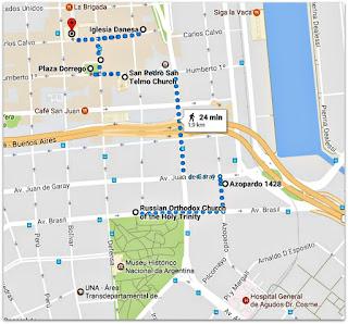 Parque Lezama e Igrejas de San Telmo (Google Maps)
