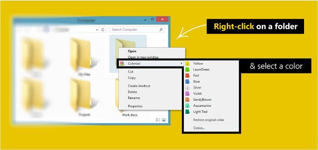 Computer me Folder ka Rang kaise badle