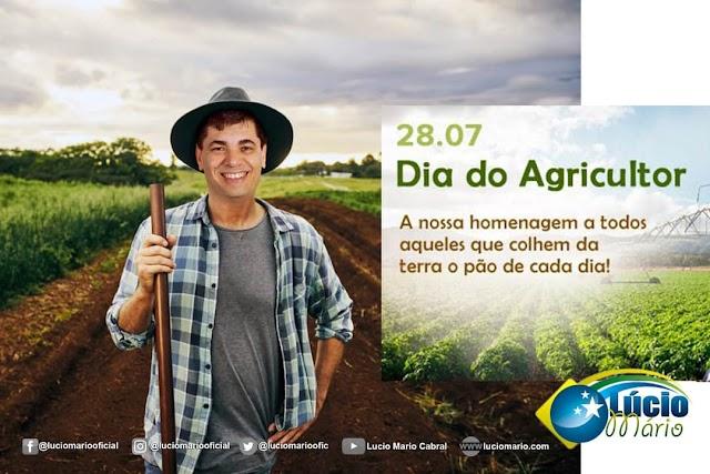 Feliz Dia do Agricultor é o que deseja o amigo Lucio Mario e pré-candidato a vereador!