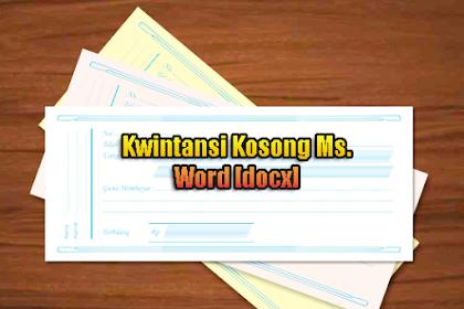 Format Kwintansi Kosong Pembayaran Ms. Word [Doc]