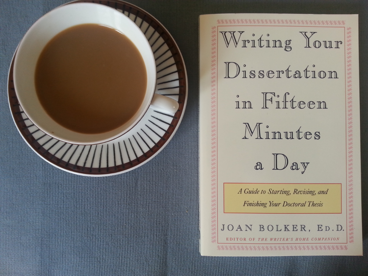 writing your dissertation in fifteen minutes a day bolker