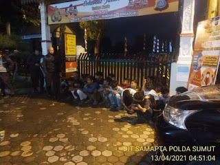 Tawuran Antar Pemuda di Jalan Tengku Hamir Hamzah Medan, Polisi Amankan 23 Remaja