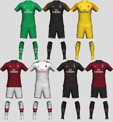PES 2020 AC Milan 2019-20 Kit Set by tekask1903