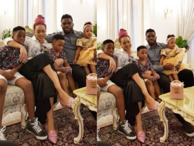 Joseph Yobo, Adaeze Yobo & their three children