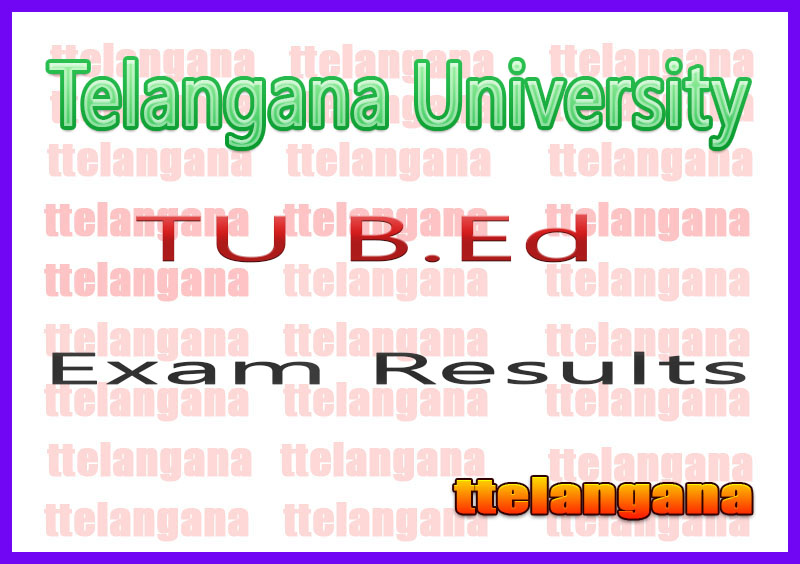 Telangana University TU B.Ed Supply Results