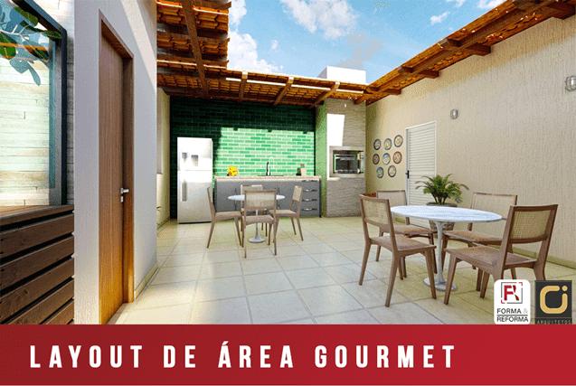 Layout de Área Gourmet - RJ