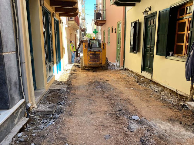Δ. Κωστούρος: Ξεκίνησε η ανάπλαση των οδών Φωτομάρα και Παπανικολάου στο Ναύπλιο