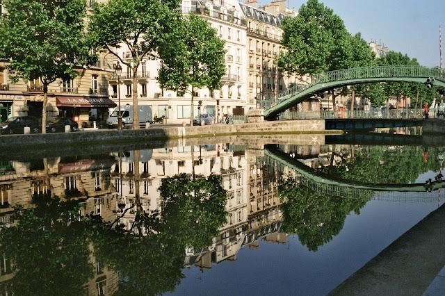 Canal Saint-Martin em Paris