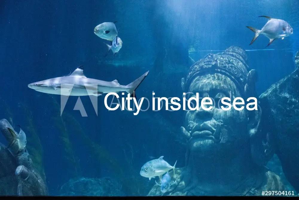 City inside sea
