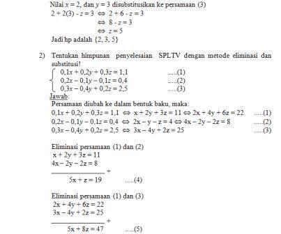 Bank Soal Matematika Kelas X Sma Sistem Persamaan Linear Tiga Variabel Spltv Ibu Guru Susi Sr