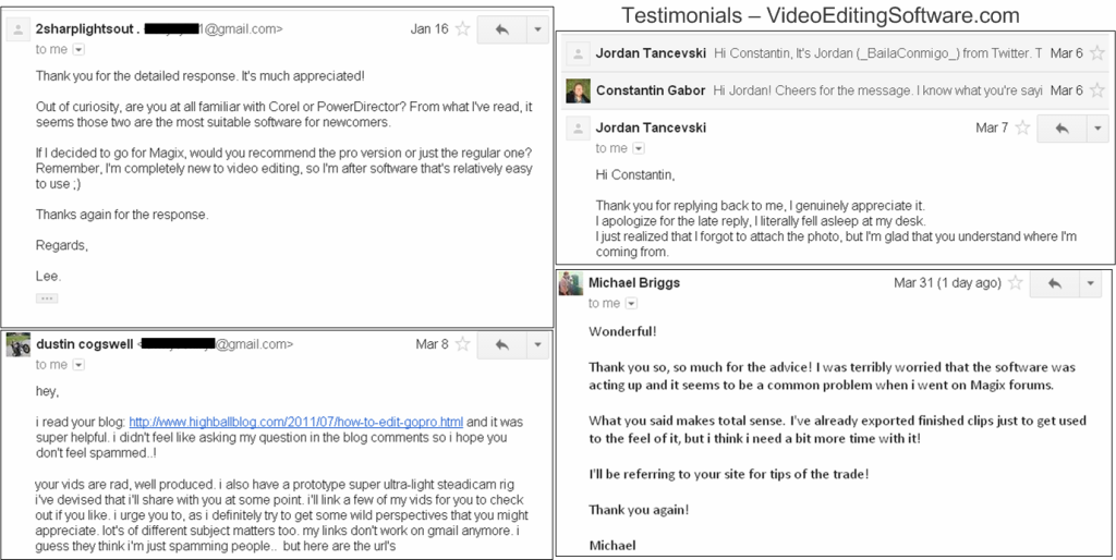 Testimonials Video Editing Software
