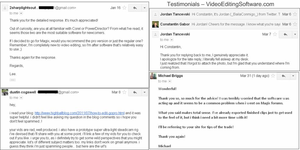 Testimonials Video Editing Software