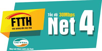 gói net4 internet cáp quang viettel
