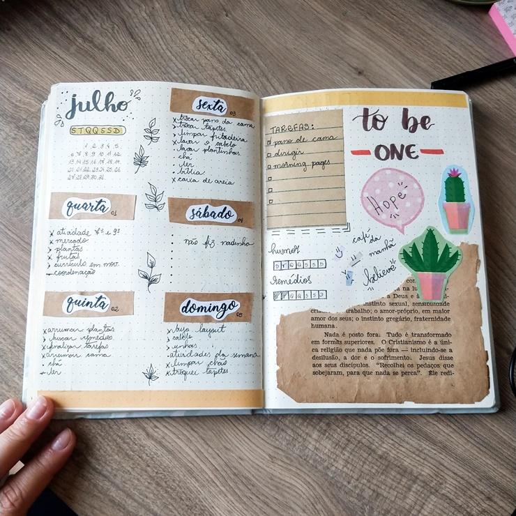 materiais bullet jurnal