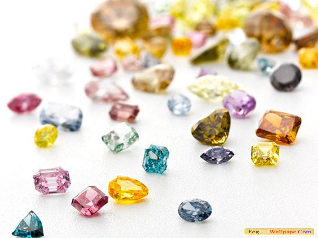 Loose Colored Diamonds Fog Hd Wallpaper