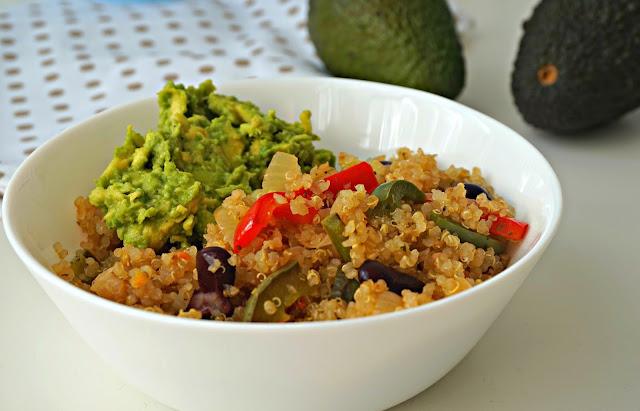quinoa+verduras+mexicana