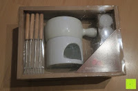 Verpackung: Janazala Schokoladen Fondue-Set Für 4 Personen, Auch Als Butter Und Käse Fondue Geeignet