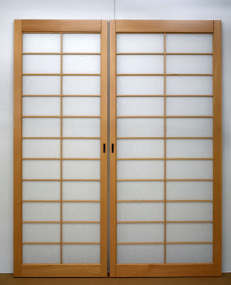 Pocket door shoji screens