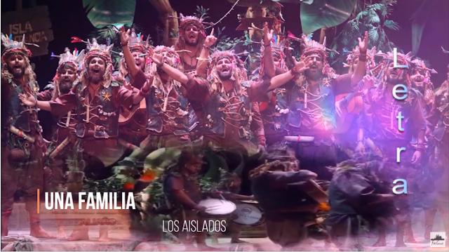 """👨👩👧👦👨👩👦👦Pasodoble """"Una familia"""" 🌴 Comparsa """"Los Aislados"""" con Letra (2020)"""