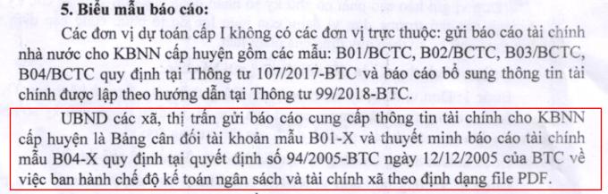 Hướng dẫn xã phường báo cáo tài chính Kho bạc nhà nước bctcnn.vst.mof.gov.vn