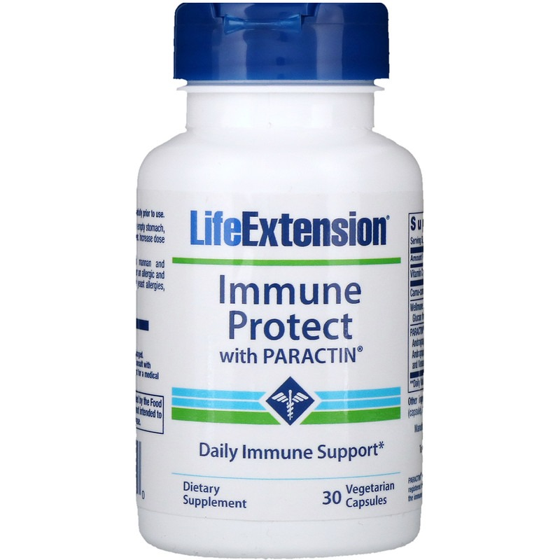 Life Extension, Иммунная защита с Paractin, 30 вегетарианских капсул