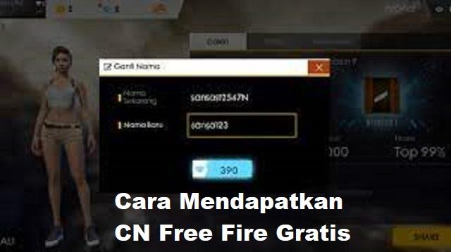 Cara Mendapatkan CN Free Fire Gratis