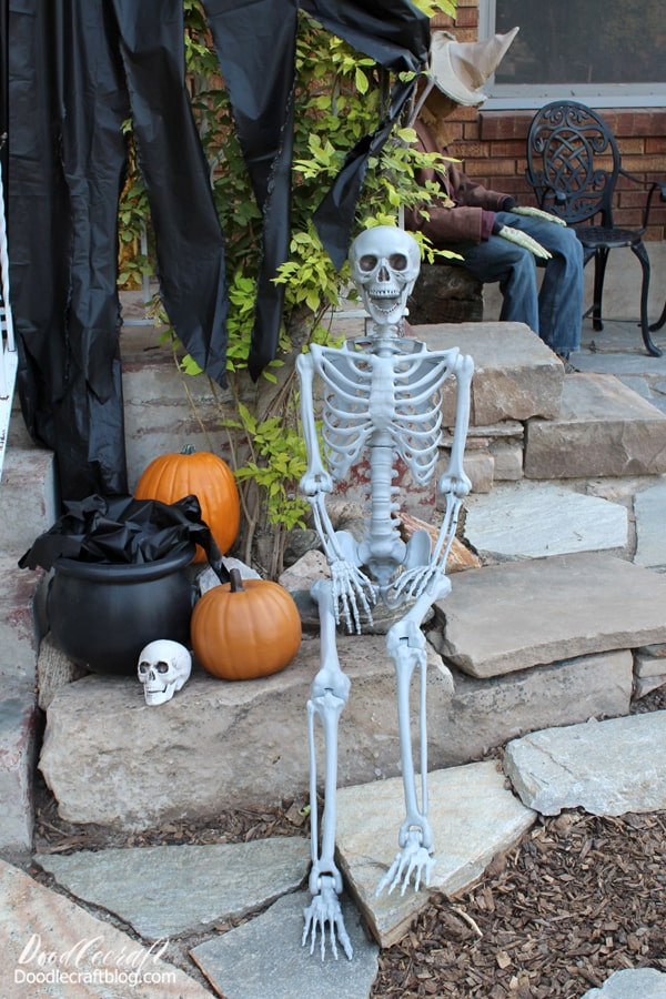 The posable life size skeleton is so much fun.