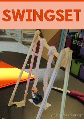 STEM Challenge Mystery Build: Each team builds something different. They must choose the materials needed for the task and stay within a budget! A swing set is one of the tasks! FREEBIE!
