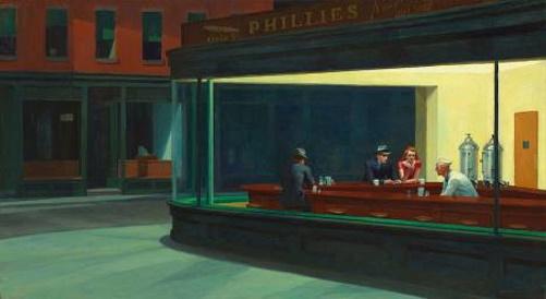 Nighthawks - Aves da Noite, pintura de Edward Hopper.