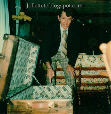 Leo Slade and trunk 1974 https://jollettetc.blogspot.com